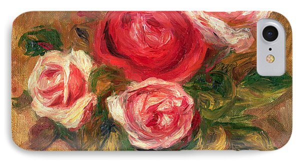 Roses In A Pot IPhone Case by Pierre Auguste Renoir