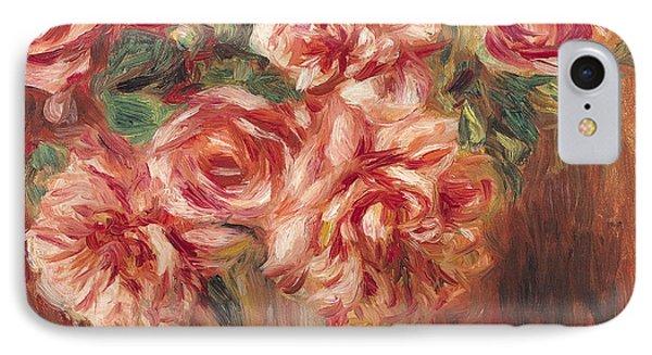 Roses In A Vase IPhone Case by Pierre Auguste Renoir