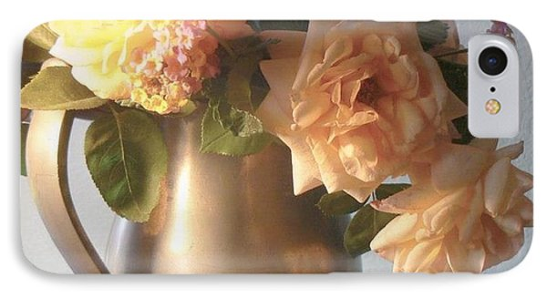 Roses In Pewter Vase Phone Case by Diana Besser