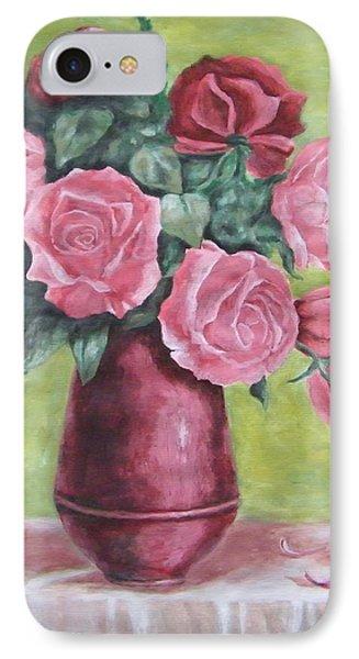 Roses In Vase Phone Case by Vlatka Kelc