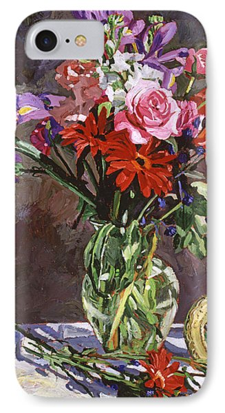 Roses Irises And Gerbras IPhone Case by David Lloyd Glover