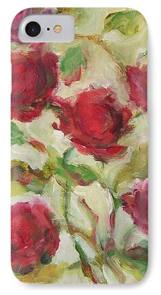 IPhone Case featuring the painting Roses by Mary Wolf