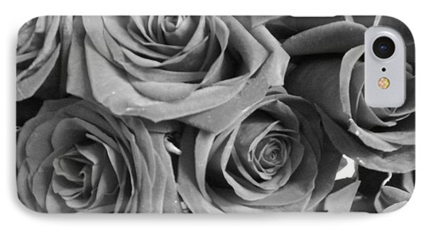 IPhone Case featuring the photograph Roses On Your Wall Black And White  by Joseph Baril