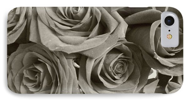IPhone Case featuring the photograph Roses On Your Wall Sepia by Joseph Baril