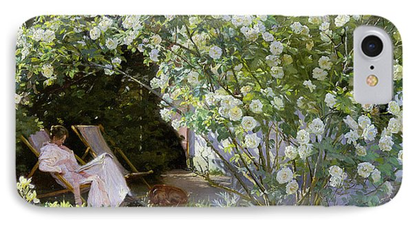 Roses IPhone Case by Peder Severin Kroyer