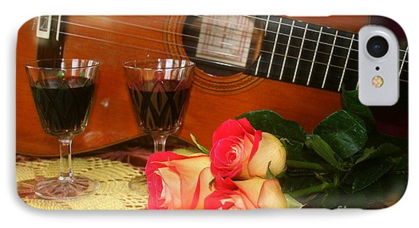 IPhone Case featuring the photograph Guitar 'n Roses by The Art of Alice Terrill