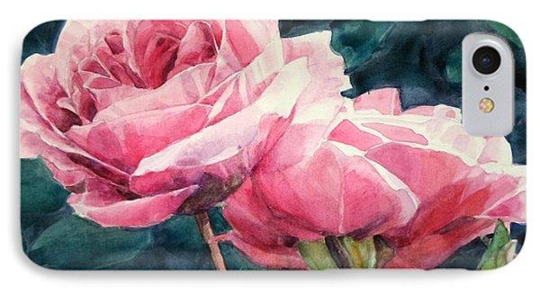 Pink Roses Wildebras IPhone Case by Greta Corens
