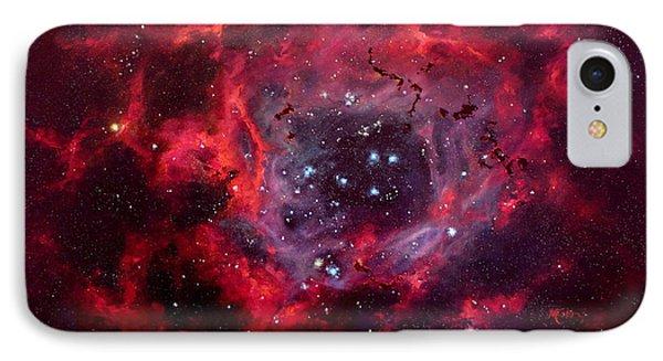 Rosetta Nebula Phone Case by Marie Green