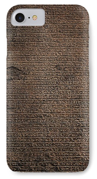 Rosetta Stone Texture IPhone Case by Gina Dsgn