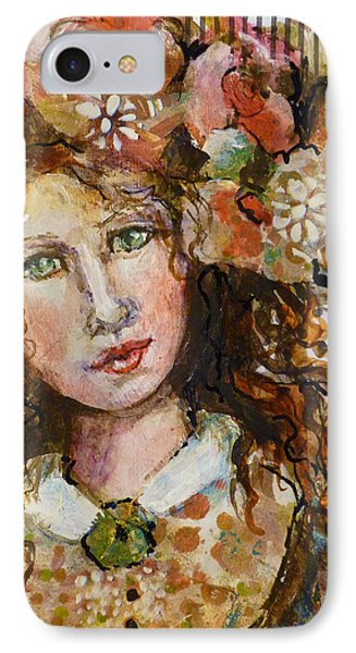 IPhone Case featuring the mixed media Rosie by P Maure Bausch