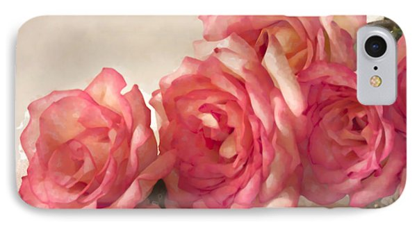 IPhone Case featuring the photograph Rosy Elegance Digital Watercolor by Sandra Foster
