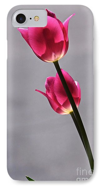 Rosy Loveliness For A Gray Day Phone Case by Byron Varvarigos