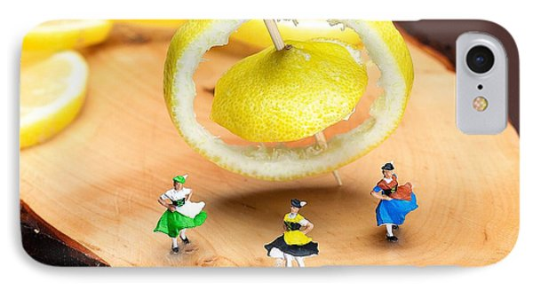 IPhone Case featuring the photograph Rotating Dancers And Lemon Gyroscope Food Physics by Paul Ge