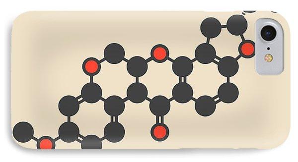 Rotenone Insecticide Molecule IPhone Case by Molekuul