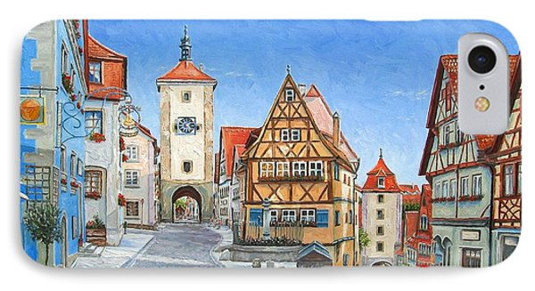 Rothenburg Germany Phone Case by Mike Rabe