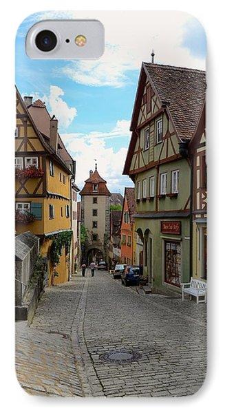 Rothenburg Ob Der Tauber IPhone Case by Corinne Rhode