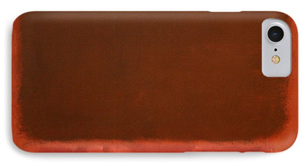 Rothko's Mulberry And Brown IPhone Case by Cora Wandel
