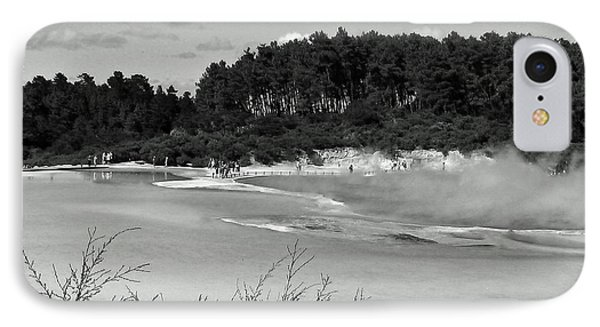 IPhone Case featuring the photograph Rotorua New Zealand 3 Bw by Mariusz Kula