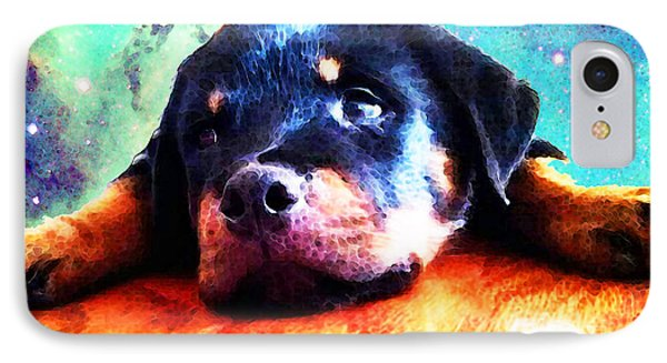 Rottie Puppy By Sharon Cummings IPhone Case