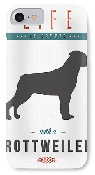 Rottweiler 01 IPhone Case