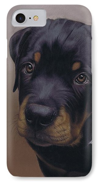 Rottweiler Dog Phone Case by Karie-Ann Cooper