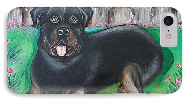 Rottweiler IPhone Case by Leslie Manley