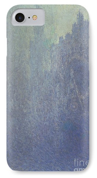 Rouen Cathedral Foggy Weather IPhone Case by Claude Monet