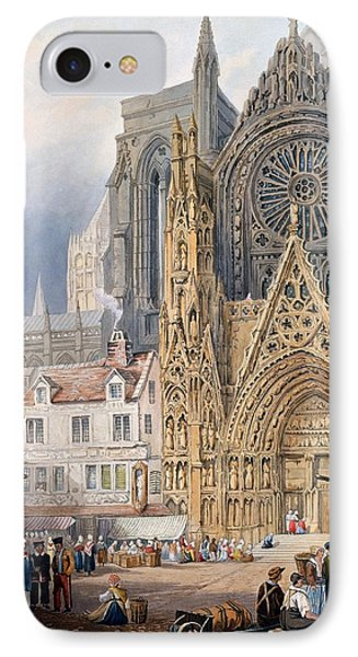 Rouen Cathedral IPhone Case by Samuel Prout
