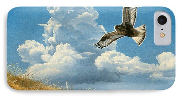 Rough-legged Hawk Phone Case by Paul Krapf