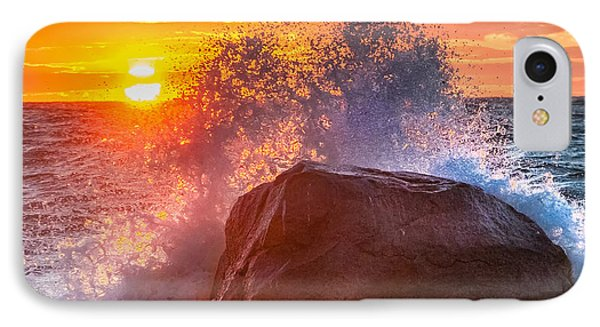 Rough Sea Square IPhone Case by Bill Wakeley