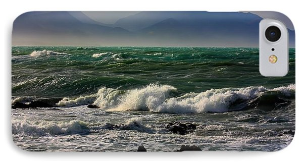 IPhone Case featuring the photograph Rough Seas Kaikoura New Zealand by Amanda Stadther