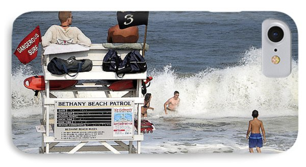 Rough Water At Bethany Beach In Delaware  IPhone Case