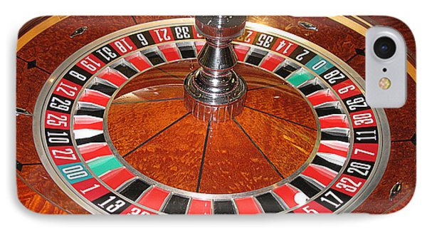Roulette Wheel And Chips IPhone Case by Tom Conway