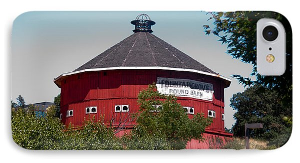 IPhone Case featuring the photograph Round Barn Named by Helen Haw
