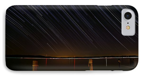 Round Bay Startrails Phone Case by Benjamin Reed