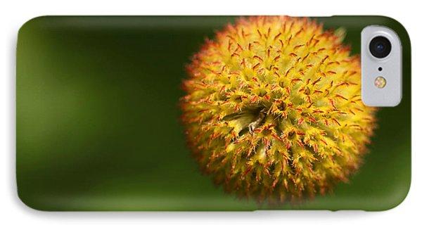 Round Flower Phone Case by Karol Livote