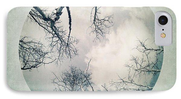 round treetops I Phone Case by Priska Wettstein