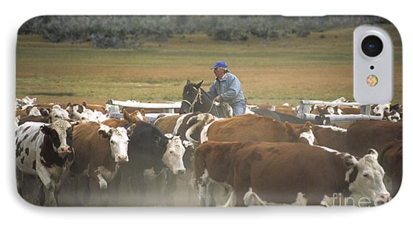 Cattle Round Up Patagonia Phone Case by James Brunker