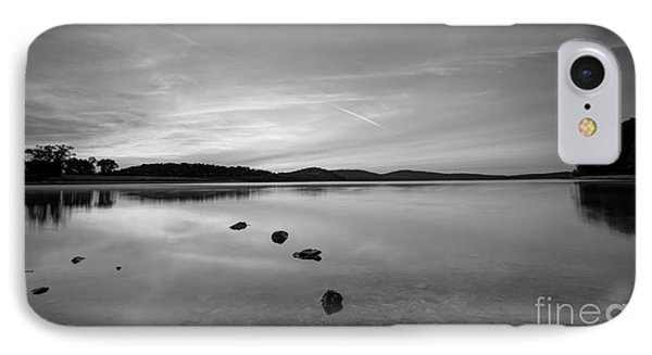 Round Valley At Dawn Bw IPhone Case