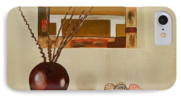 IPhone Case featuring the painting Round Vase by Laura Forde