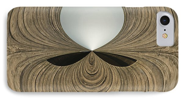 Round Wood IPhone Case by Anne Gilbert