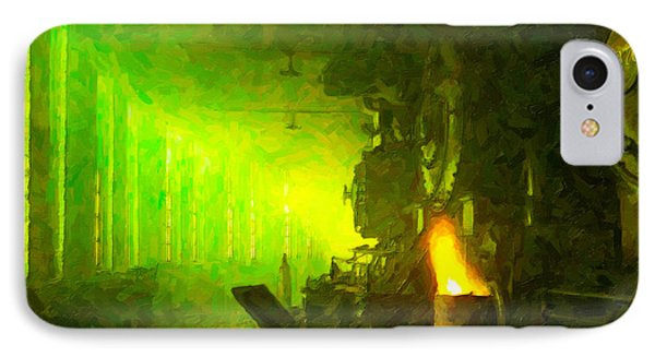 IPhone Case featuring the digital art Roundhouse Morning by Chuck Mountain