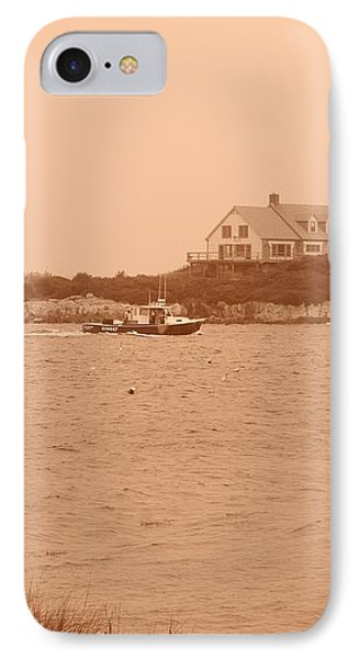 Rounding The Point IPhone Case by Jean Goodwin Brooks