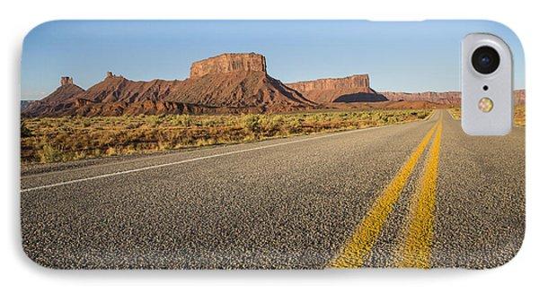 Route 128 Near Castle Valley Phone Case by Adam Romanowicz
