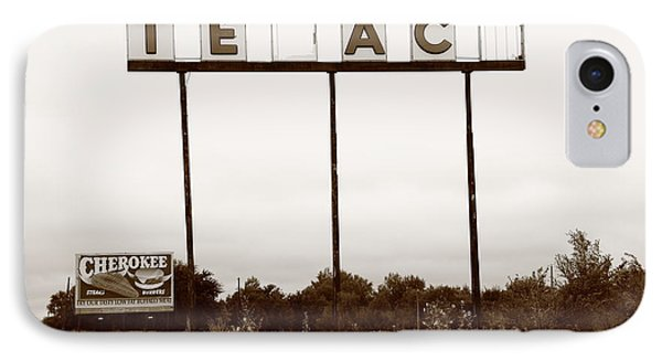 Route 66 - Abandoned Texaco Station Phone Case by Frank Romeo