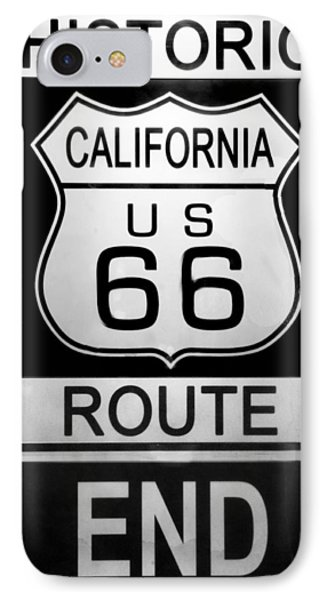 Route 66 End IPhone Case by Chuck Staley