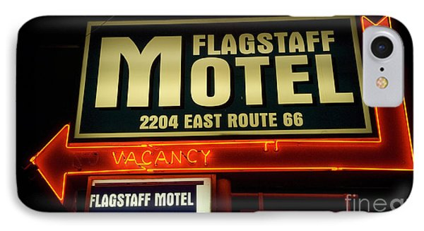 Route 66 Flagstaff Motel Phone Case by Bob Christopher