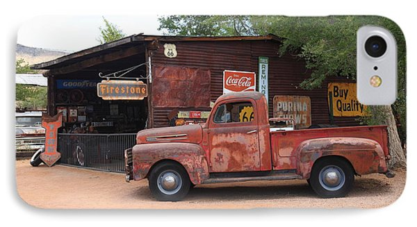Route 66 Garage And Pickup IPhone Case