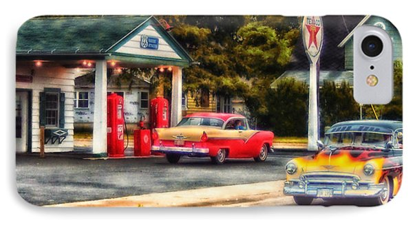 Route 66 Historic Texaco Gas Station Phone Case by Thomas Woolworth
