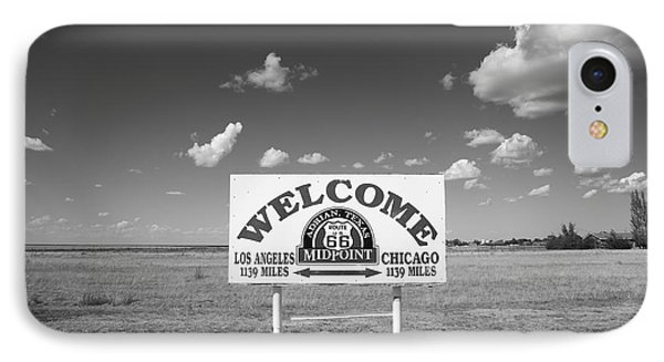 Route 66 - Midpoint Sign IPhone Case